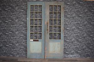 Traumhafte alte Antike Holztür Eingangstür Doppeltür Zweiflügel Tür 240 x 152