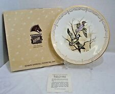 Boehm Collector Plate Water Birds Collection Hooded Mergansers In Box