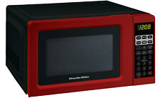Digital Small Kitchen Countertop Microwave Oven 0.7 Cu.ft 700W Mini Black Red