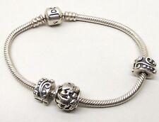Pandora Sterling Silver Charm Bracelet 14K Family Forever Amethyst Citrine Bead