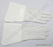 Gants et moufles blancs en cuir pour homme