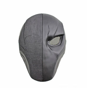 COOL Black Single Eye Wire Mesh Mask Paintball Airsoft Full Face Mask PROP M0895