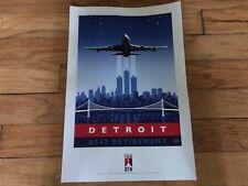 DELTA BOEING 747 RETIREMENT - DETROIT - POSTER - 18 x 12 - NEW -