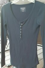 Abercrombie and Fitch Women's Long Sleeve Top Size XS Navy blue