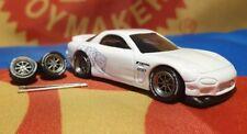 Gunmetal 1/64 Watanabe Rubber Wheels Spoke Real Riders Hot Wheels Matchbox Mazda
