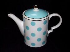 Grace's Teal Polka Dot Coffee / Teapot New