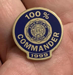 American Legion 100 Percent Commander Lapel Pin. 1999