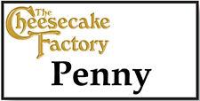 NAME BADGE HALLOWEEN PENNY CHEESECAKE FACTORY BIG BANG PIN SHIPS FREE