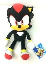 "New Sonic The Hedgehog Video Game 8"" Shadow Black Plush Toy. Soft"