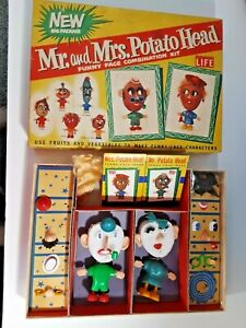 Hasbro - Mr & Mrs Potato Head set box & toy (early 1960's)  Excellent condition