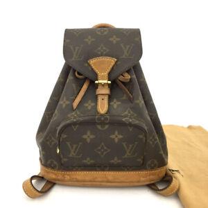 100% Authentic Louis Vuitton Monogram Mini Montsouris Backpack /60320