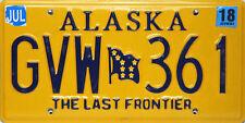 Alaska License Plate, Original Kennzeichen USA  GVW 361 ORIGINALBILD