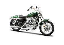 Maisto Harley-davidson 1958 FLH Duo Glide Blue White Motorbike Moto 1 18