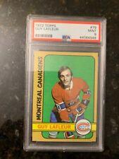 1972 Topps Hockey #79 GUY LAFLEUR ROOKIE (FTC)...............PSA 9