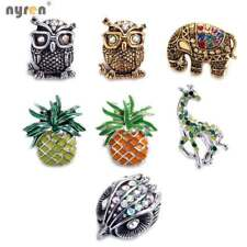 18mm Metal Snap Button Snap Charms Multi Style Button DIY Ginger Snap Jewelry