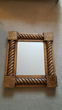 Barley twist framed mirror. Substantial. Ready to hang. Reclaimed Pine. Awesome