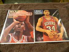 1990 BECKETT Basketball Card Magazine #1 MICHAEL JORDAN & #4 CHARLES BARKLEY