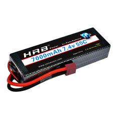 HRB 2S 7.4V 7000mAh Hardcase Lipo Battery 55C 110C for Car Truck Losi Buggy CA!