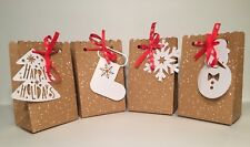 8 Pack Holiday Christmas Gift Bags Perfect For Small Gifts - 4 Varieties