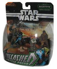 Star Wars Unleashed Battle Pack Yoda, Captain Tarfful, Chewbacca & Aayla Secura