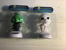 New Solar Powered Dancing Toy Bobble Head Skeleton AND Witch Halloween Novelty