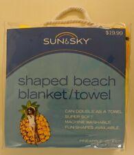 Sun & Sky Giant Size Pineapple Shaped Beach Blanket Towel 45x67 New
