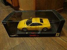 1:18 SCALE--HOT WHEELS ELITE--YELLOW FERRARI 348 tb CAR (NEW) LIMITED EDITION