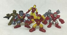 Marvel Super Hero Squad Iron Man Mark Colossus War Machine Silver Centurion Lot