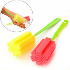 Soft Sponge Plastic Handle Kitchen Tool High Cup Glass Washing Brush Fast Clean