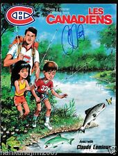 Claude Lemieux Fishing with Claude Montreal Canadians Coloring Book Signed