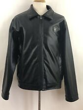 Men's EA Collection Italy Style XXL Black Winter Leather Jacket Coat