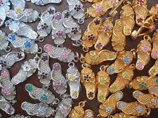 Flip Flop Dangle Charms Wholesale Lot of 12pcs mixed Birthstone Colors