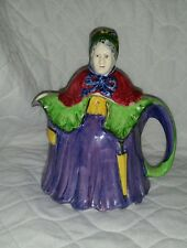 Vintage Porcelain Old Woman Old Lady Teapot Made in England