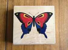 """INKADINKADO """"RETIRED"""" RUBBER STAMP """" BUTTERFLY LARGE * 4 1/2 x 4 1/2 *6702"""