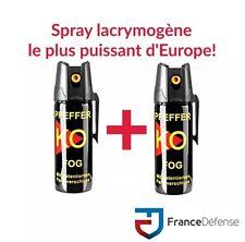 Bombe Lacrymogene pack Spray de défense 50 ml Gaz CS + 50 ml Gaz CS KOFOG