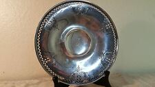 "Alvin pierced Sterling silver 9"" footed plate 259g."