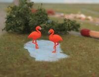 2 Flamingos Tiere Figuren Spur N (1:160)