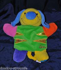 Peluche Doudou Marionnette Chien TIAMO Collection Vert Jaune  TTBE