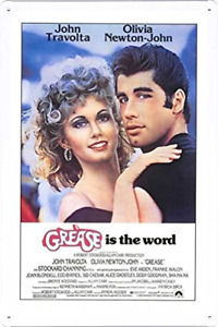 Grease Movie Poster Home Theater Decor Metal Tin Sign Wall
