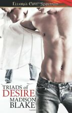 TRIADS OF DESIRE by Madison Blake EROTIC CONTEMP MENAGE MMF MM ROMANCE ~ OOP