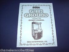Gain Ground By Sega Original Video Arcade Game Operators Service Manual
