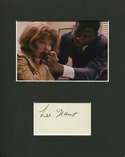 Lee Grant In the Heat of the Night Signed Autograph Photo Display w/ Poitier