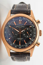 $28,500 Armand Nicolet 18k Rose Gold Chronograph Automatic Mens Watch & Box 123g