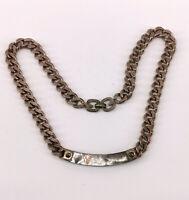 99825791 925er Silber Collier mit Perlmuttplatte alt