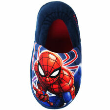 BOYS NEW SPIDERMAN SLIPPERS MARVEL NOVELTY SLIP ON HOUSE SHOES SIZE 8 - 2