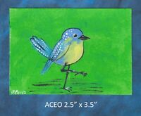Original ACEO - Bird - miniature acrylic painting, not framed