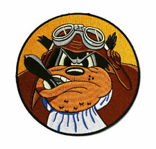 WWII US 603rd Bomber Squadron Fierce Dog Embroidered Patch 11.8cm