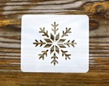 Festive Snowflake Face Painting Stencil 6cm x 7cm 190micron Washable Reusable