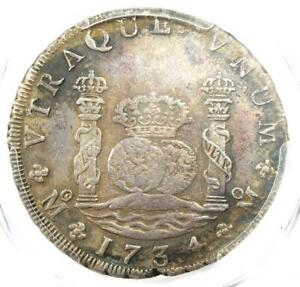 1734-MO Mexico Pillar Dollar 8 Reales Coin (8R) - Certified PCGS XF Details
