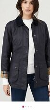 BARBOUR BEADNELL WOMENS JACKET NAVY SIZE 12